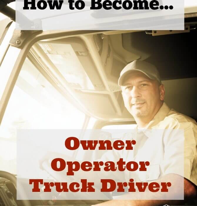 become an owner operator truck driver