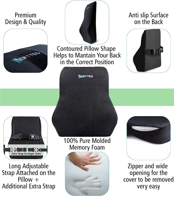 vertteo lumbar support pillow
